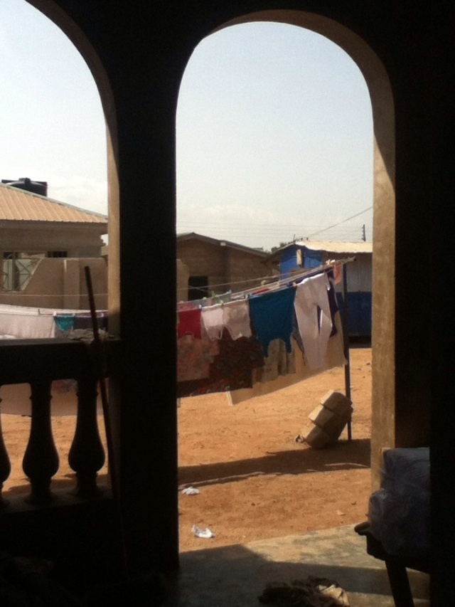 A view from a Ghanaian home